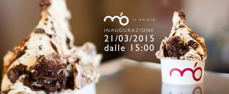 Foto dell'inaugurazione del negozio di m'o il gelato a castel maggiore